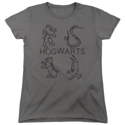 Image for Harry Potter Womans T-Shirt - Literary Crests