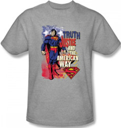 Image for Superman T-Shirt - Truth, Justice, and the American Way