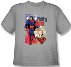 Image for Superman Youth T-Shirt - Truth, Justice, and the American Way