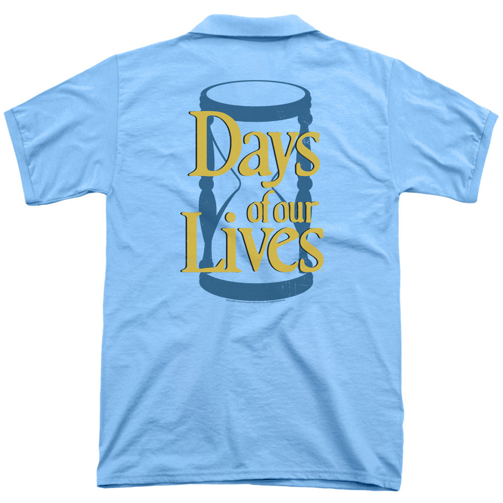 565686530 Days of Our Lives Polo Shirt - Hourglass. Loading zoom. Hover over image to  zoom