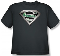 Image for Superman Kids T-Shirt - Circuitry Logo
