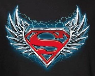 Superman T Shirt Steel Wings Logo Nerdkungfu