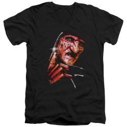 Image for A Nightmare on Elm Street V Neck T-Shirt - Freddy's Face