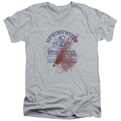 Image for A Nightmare on Elm Street V Neck T-Shirt - Springwood High School Victim