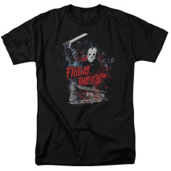 Image for Friday the 13th T-Shirt - Cabin
