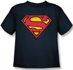 Image for Superman Youth T-Shirt - Distressed Shield Logo