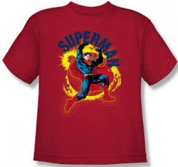Image for Superman Youth T-Shirt - A Name to Uphold Logo