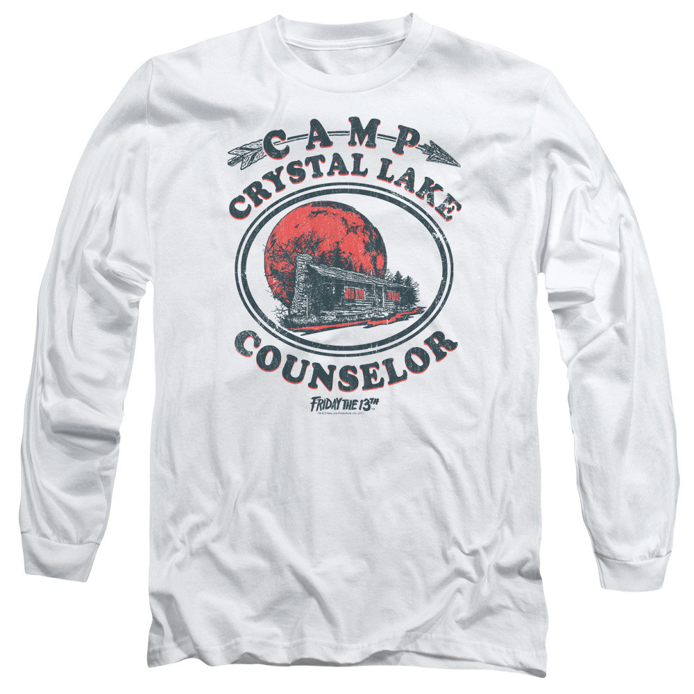 61a79f79adc9 Hover over image to zoom. Image for Friday the 13th Long Sleeve Shirt - Camp  Crystal Lake Counselor. Click to enlarge