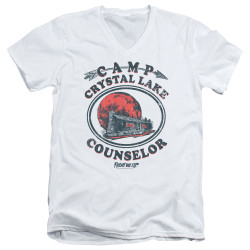 Image for Friday the 13th V Neck T-Shirt - Camp Crystal Lake Counselor