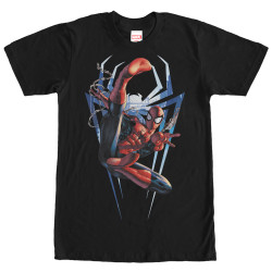 Image for Spider-Man Homecoming Logo Swinging T-Shirt