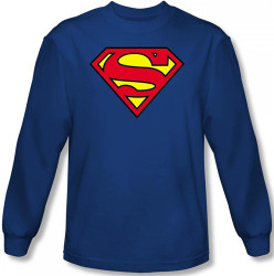 Image for Superman Long Sleeve T-Shirt - Classic Logo
