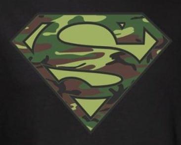 2954e8535 Superman T-Shirt - Camo Logo - NerdKungFu