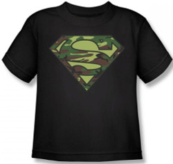Image for Superman Kids T-Shirt - Camo Logo