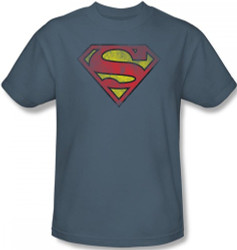Image Closeup for Superman T-Shirt - Inside Shield Logo