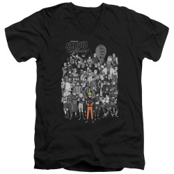 Image for Naruto Shippuden V Neck T-Shirt - Characters