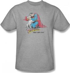Image Closeup for Superman T-Shirt - A Superman & His Dog