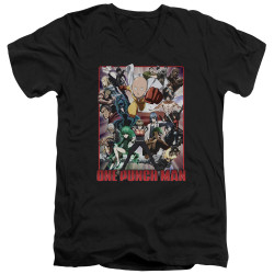 Image for One Punch Man V Neck T-Shirt - Cast of Characters