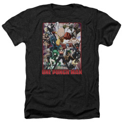 Image for One Punch Man Heather T-Shirt - Cast of Characters