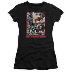 Image for One Punch Man Girls T-Shirt - Cast of Characters