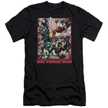 Image for One Punch Man Premium Canvas Premium Shirt - Cast of Characters