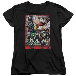 Image for One Punch Man Womans T-Shirt - Cast of Characters