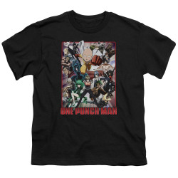 Image for One Punch Man Youth T-Shirt - Cast of Characters