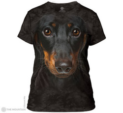 Image for The Mountain Girls T-Shirt - Daschund Face