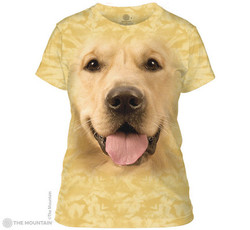 Image for The Mountain Girls T-Shirt - Big Face Golden Retriever
