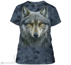 Image for The Mountain Girls T-Shirt - Warrior Wolf