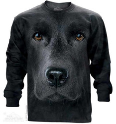 Image for The Mountain Long Sleeve T-Shirt - Black Lab Face