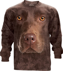 Image for The Mountain Long Sleeve T-Shirt - Chocolate Lab
