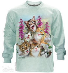 Image for The Mountain Long Sleeve T-Shirt - Kitten Selfie