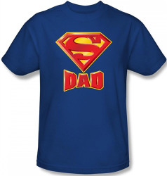 Image Closeup for Superman T-Shirt - Dad's Super Shield Logo