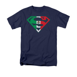 Image for Superman T-Shirt - Mexican Flag Shield