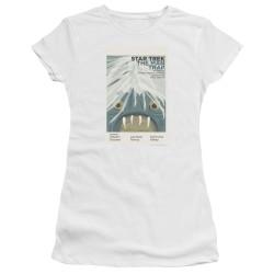 Image for Star Trek Juan Ortiz Episode Poster Juniors T-Shirt - Ep. 1 the Man Trap