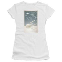 Image for Star Trek Juan Ortiz Episode Poster Juniors T-Shirt - Ep. 2 Charlie X