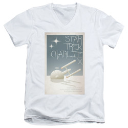 Image for Star Trek Juan Ortiz Episode Poster V Neck T-Shirt - Ep. 2 Charlie X