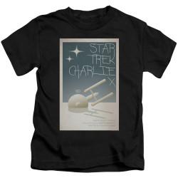 Image for Star Trek Juan Ortiz Episode Poster Kids T-Shirt - Ep. 2 Charlie X on Black