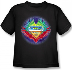 Image for Superman Kids T-Shirt - Don't Stop Believing Shield Logo