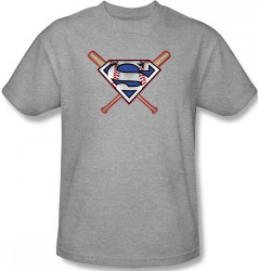 Image for Superman T-Shirt - Crossed Bats Logo