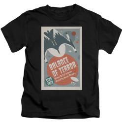 Image for Star Trek Juan Ortiz Episode Poster Kids T-Shirt - Ep. 14 Balance of Terror on Black