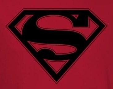 fad352ca Superman T-Shirt - Red & Black Shield Logo - NerdKungFu