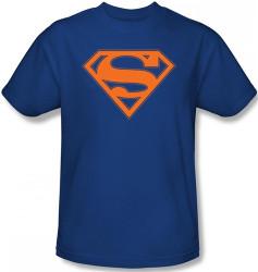 Image Closeup for Superman T-Shirt - Blue & Orange Shield Logo