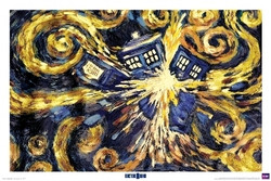 Doctor Who Poster - Exploding Tardis