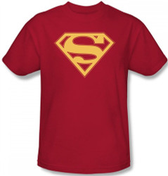 Image Closeup for Superman T-Shirt - Red & Gold Shield Logo