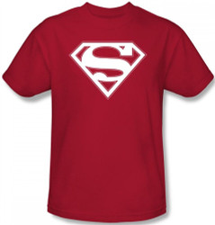 Image Closeup for Superman T-Shirt - Red & White Shield Logo