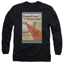 Image for Star Trek Juan Ortiz Episode Poster Long Sleeve Shirt - Ep. 19 Tomorrow is Yesterday on Black