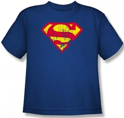 Image for Superman Kids T-Shirt - Classic Logo Distressed