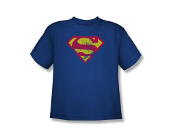 Image for Superman Youth T-Shirt - Classic Logo Distressed