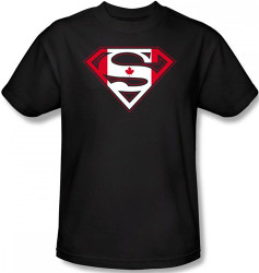 Superman T-Shirt - Canadian Flag Shield